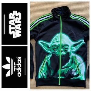 VHTF Adidas STAR WARS Yoda zipper jacket